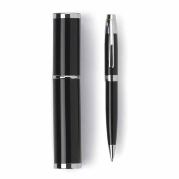Bolígrafo con base de níquel y detalles en color plata