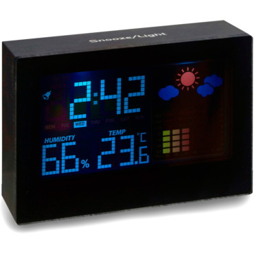 Digital weather station with clock, a...