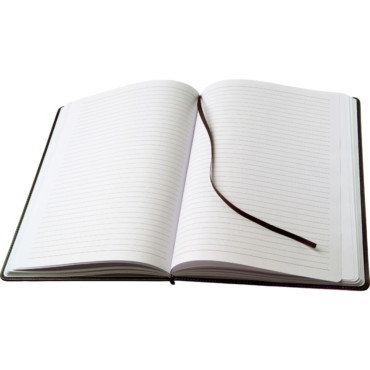 A4 Note book bound in a PU cover with...