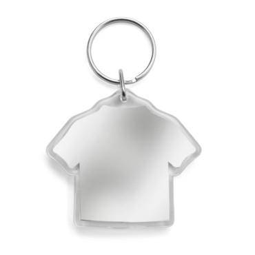 Llavero en forma de camiseta con espa...