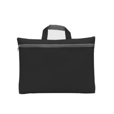 Seminar bag with zipped front pocket