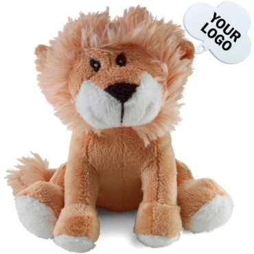 Soft toy lion, includes tag for print...
