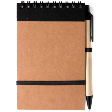 Wire bound recycled note book with se...