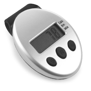 Pedometer with a calorie counter