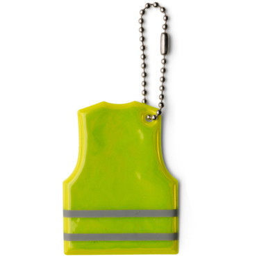 Vest shaped reflective plastic key ho...