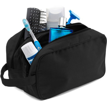 Toilet bag in a 600d polyester materi...