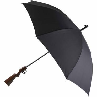 Paraguas con mango en forma de rifle