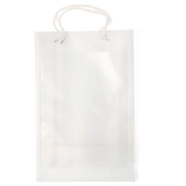 Shopper grande in materiale e tasca laterale trasparente da utilizzare per inserire cartoncino personalizzato