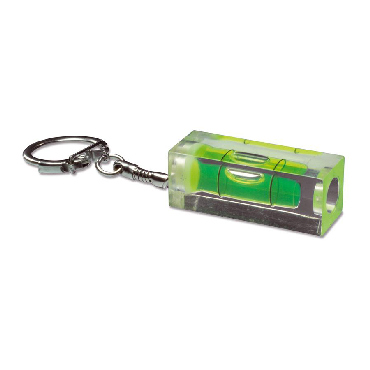 Acrylic spirit level with keychain