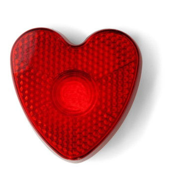 Heart shaped flashing safety light