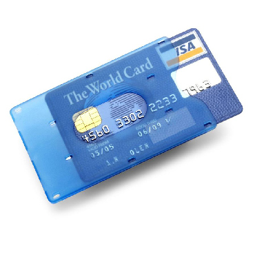 Plastic bank card holder