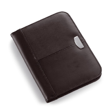 A5 Leather zipped conference folder