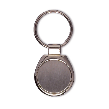 Round metal key holder