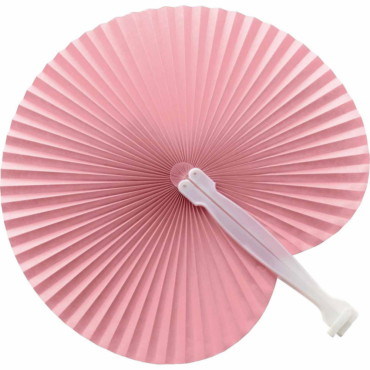 Hand held fan with plastic handle