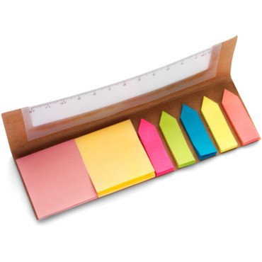 Card cover with a clear 12cm ruler, 2...