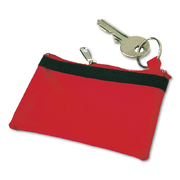 Nylon key wallet with a zip