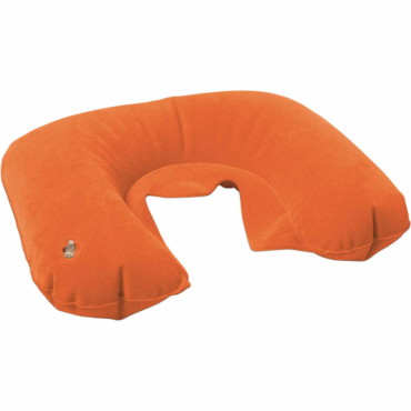 Inflatable velour travel cushion