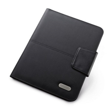 1680D and imitation leather A4 folder with magnetic lock and several inner pockets