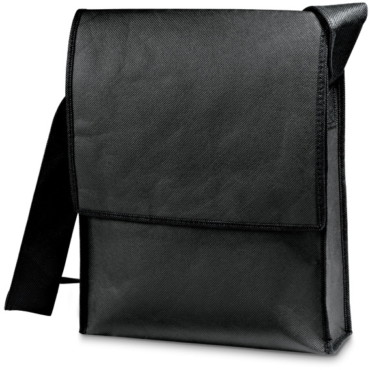 Non-woven shoulder bag with front pockets
