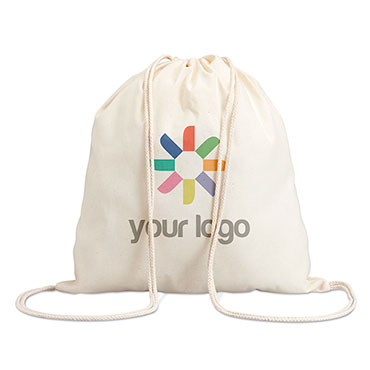Saco tipo mochila de algodão Bilma
