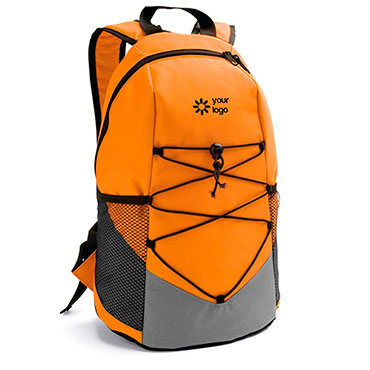 600D backpack with side mesh pockets and inner pocket