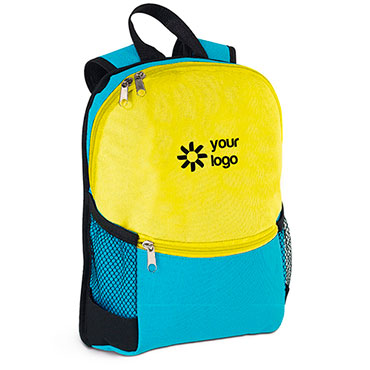600D children's backpack with mesh side pockets and front pocket