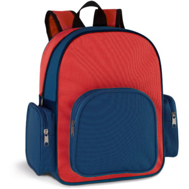 600D children's backpack with 3 outer pockets