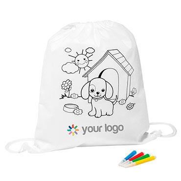 Colouring drawstring bag Seka