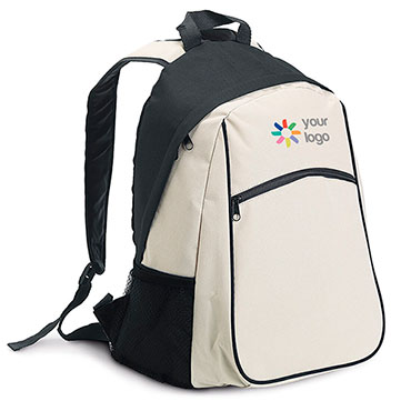 600D backpack with outer and side mesh pockets