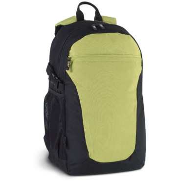 600D and Ribstop backpack with side mesh pockets, front and inner pockets