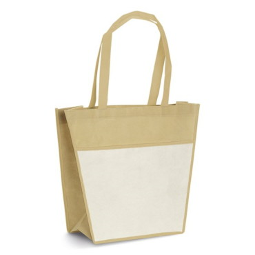 Non-woven bag with front pocket and 60 cm handles
