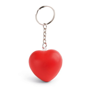 Anti-stress squeeze heart keyring
