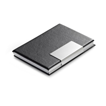 Aluminium and imitation leather card holder