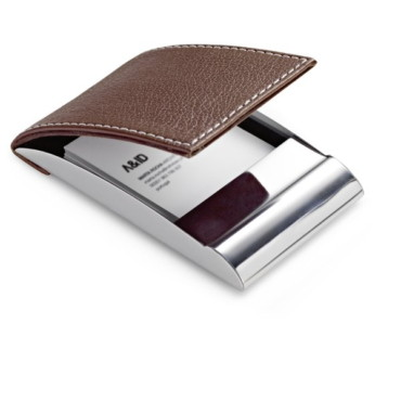 Metal and imitation leather card holder