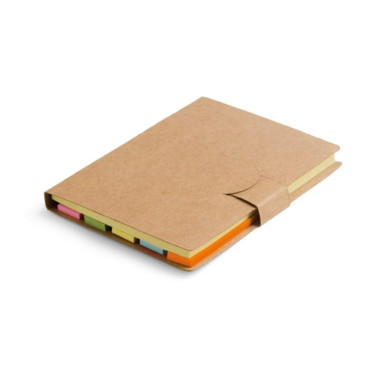 Notepad with recycled cardboard cover