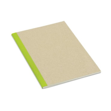 A5 notebook with recycled cardboard cover