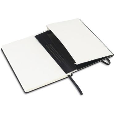Bloco de notas tipo A5 de capa rígida com bolso interior
