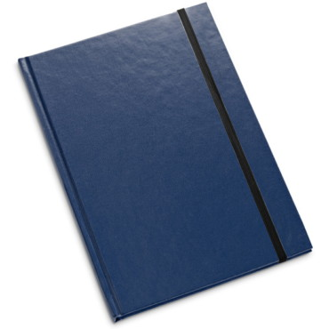 B5 notepad with hardcover and elastic closure
