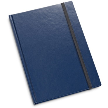 A5 notepad with hardcover and elastic closure