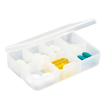 7-compartment weekly pill box