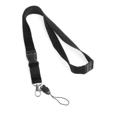 Polyester lanyard with safety lock
