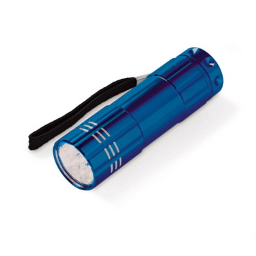 9-LED aluminium flashlight