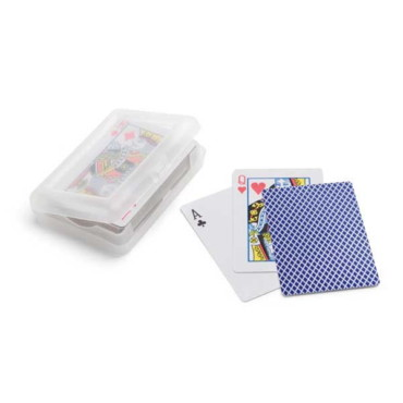 Pack of cards in plastic box