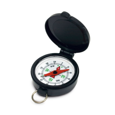 Plastic pocket compass with lid