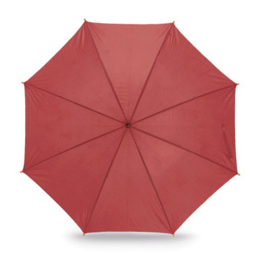 Umbrella with wooden shaft and handle