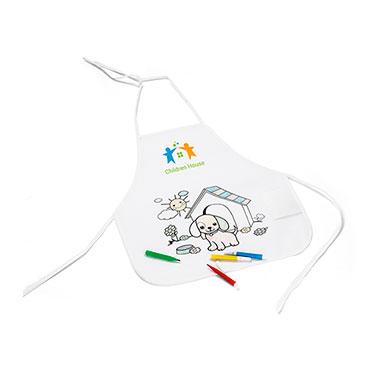 Tablier pour enfant pour colorier Bou