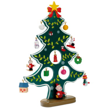 Wooden xmas tree decoration