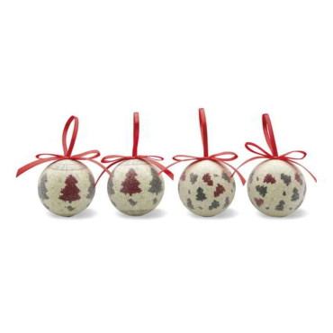 4pc xmas bauble set