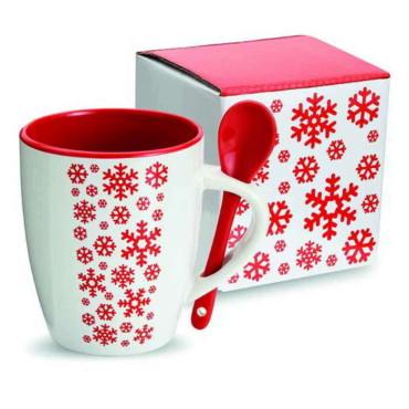 Tazza di ceramica con cucchiai