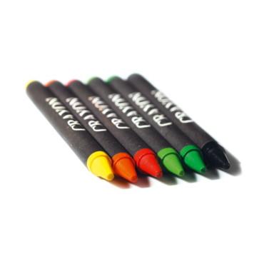 Estojo 6 lápis de cera Brabo